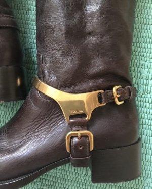 Prada Riding Boots cognac-coloured-black brown