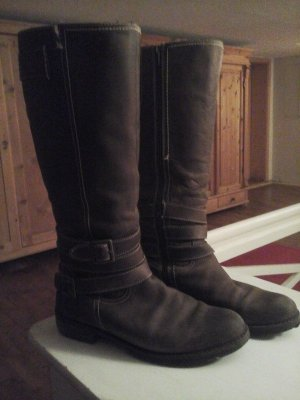 Reiterstiefel Tom Tailor Antik look braun Gr. 40