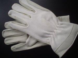 Leren handschoenen wit Leer