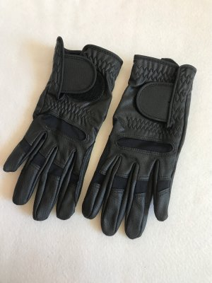 Tchibo / TCM Faux Leather Gloves black imitation leather