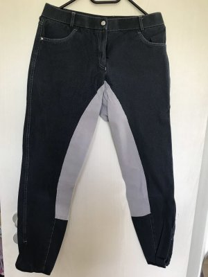 Riding Trousers silver-colored-dark blue