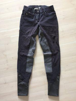 Pantalone da equitazione blu scuro-grigio scuro