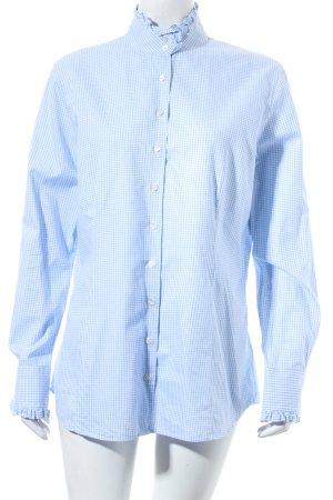 Reitmayer Long Sleeve Blouse natural white-light blue check pattern '70s style