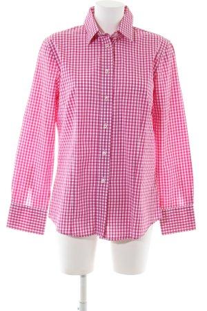 Reitmayer Langarmhemd pink-weiß Karomuster Casual-Look