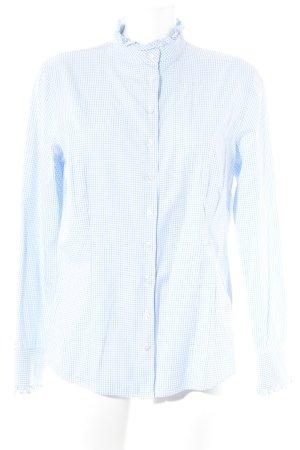 Reitmayer Camisa de manga larga blanco-azul celeste estampado a cuadros
