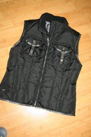 Gewatteerd vest zwart Nylon
