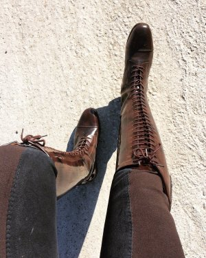 Riding Boots dark brown-black brown leather