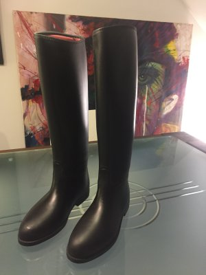 Riding Boots black synthetic material