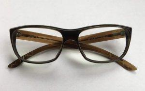 Bril donkerbruin-bruin kunststof
