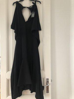 """Rejina Pyo """"Camille"""" Black Party Dress Abendkleid mit Cut Outs Sexy Kleid mit langen Ärmeln UK6"""