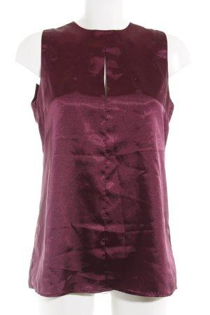 Reken Maar ärmellose Bluse violett Business-Look