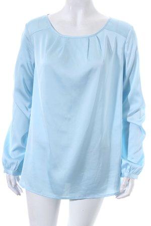 Reken Maar Langarm-Bluse babyblau Elegant