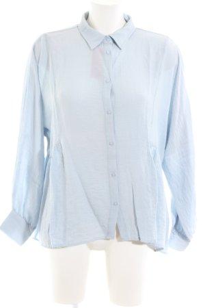 Reken Maar Langarm-Bluse blau Elegant