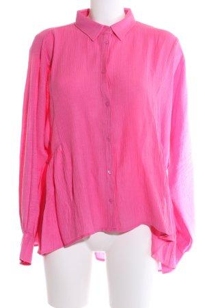 Reken Maar Oversized Bluse pink Business-Look