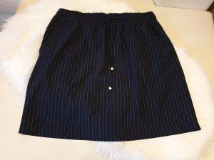 Reken Maar Mini-jupe blanc-bleu foncé