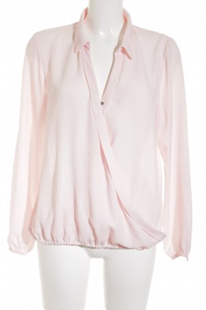 Reken Maar Transparenz-Bluse rosé klassischer Stil