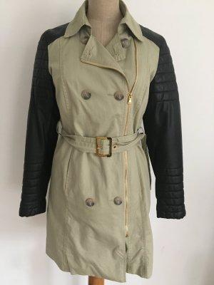 Reken Maar Trenchcoat noir-beige clair coton