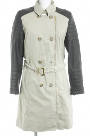 Reken Maar Trench Coat black-cream street-fashion look