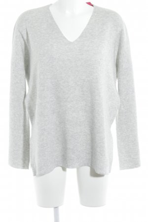 Reken Maar V-Neck Sweater light grey casual look