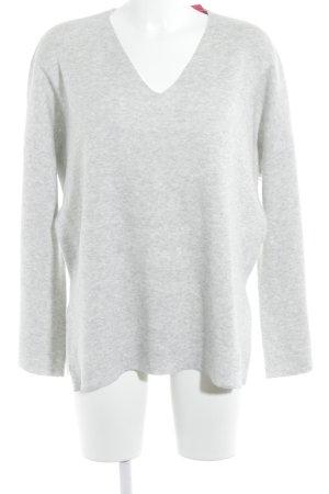 Reken Maar V-Ausschnitt-Pullover hellgrau Casual-Look