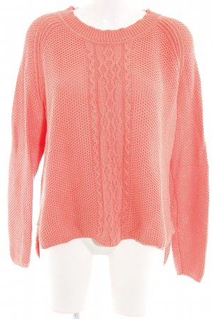 Reken Maar Cable Sweater salmon cable stitch casual look