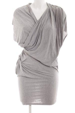 Religion Robe en jersey gris clair imprimé allover élégant