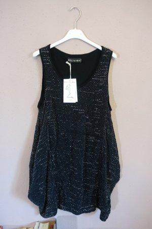 Religion Kleid, neu, schwarz, silber, mit Taschen, hängerchen