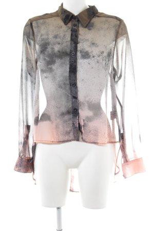 Religion Transparenz-Bluse wollweiß-hellgrau Farbverlauf extravaganter Stil