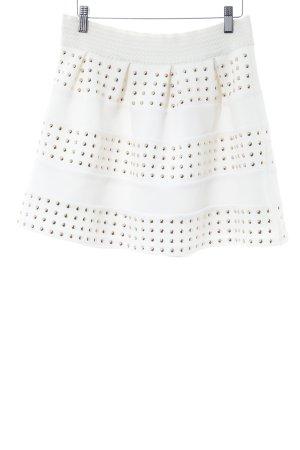 Relish Minirock weiß-goldfarben extravaganter Stil