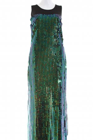 Relish Sequin Dress black-green glittery