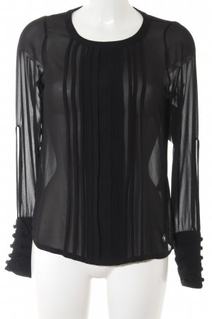 Relish Blusa trasparente nero elegante