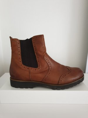 Remonte Chelsea Boots brown-cognac-coloured leather
