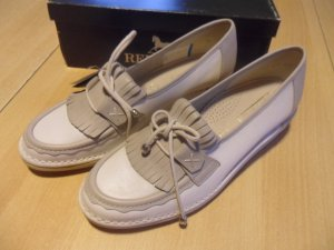 Remonte Loafers wit-lichtgrijs Leer
