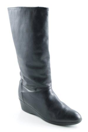 Remonte Botas estilo militar negro estilo sencillo