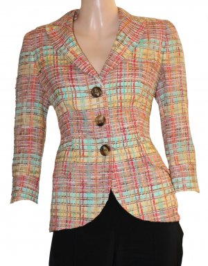 Rena Lange Wool Blazer multicolored cotton