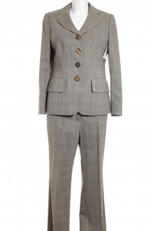 Rena Lange Business Suit grey brown check pattern business style