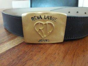 Rena Lange Cinturón de cadera marrón oscuro-color oro