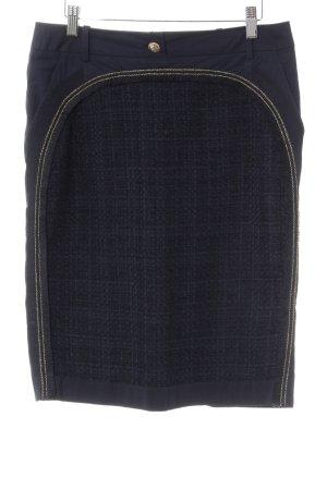 Rena Lange Rok met hoge taille goud-donkerblauw elegant