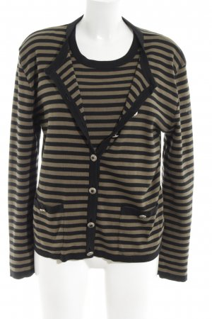 Rena Lange Twin Set tipo suéter black-brown striped pattern casual look