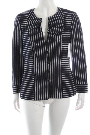 Rena Lange Jerseyblazer dunkelblau-weiß Streifenmuster Casual-Look