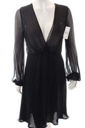 Rena Lange Kleid schwarz-hellbeige Elegant