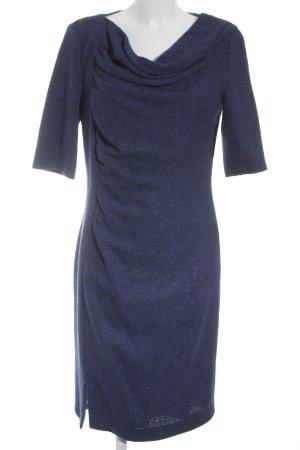 Rena Lange Kurzarmkleid stahlblau-dunkelblau Business-Look