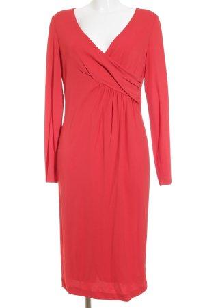 Rena Lange Robe à manches longues rouge élégant