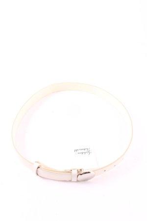 Rena Lange Ledergürtel hellbeige-silberfarben klassischer Stil