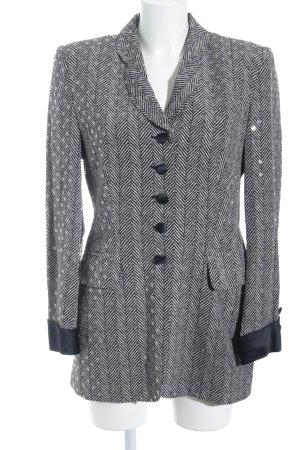 Rena Lange Long-Blazer schwarz-weiß Allover-Druck extravaganter Stil