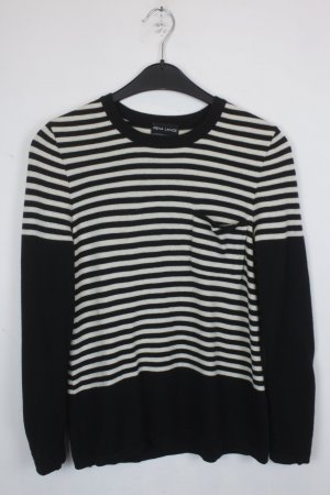 RENA LANGE Pullover Gr. XS schwarz weiß gestreift (18/9/404/R)