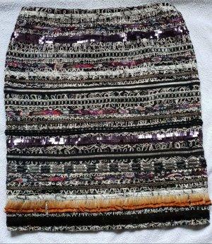 Rena Lange Falda con tirantes negro-violeta oscuro