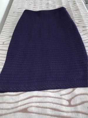 Rena Lange Gonna lavorata a maglia viola scuro