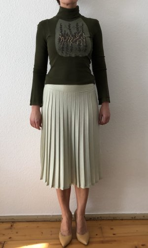 Rena Lange Pleated Skirt sage green