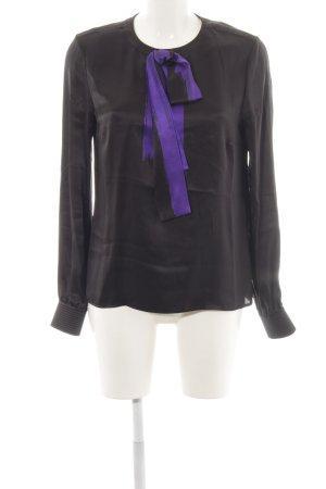 Rena Lange Schluppen-Bluse schwarz-lila Elegant
